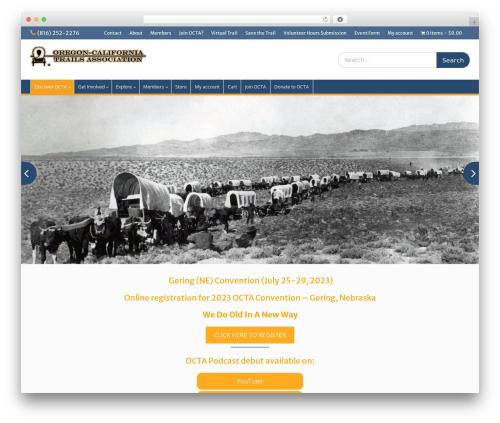 Education Hub free WordPress theme - octa-trails.org