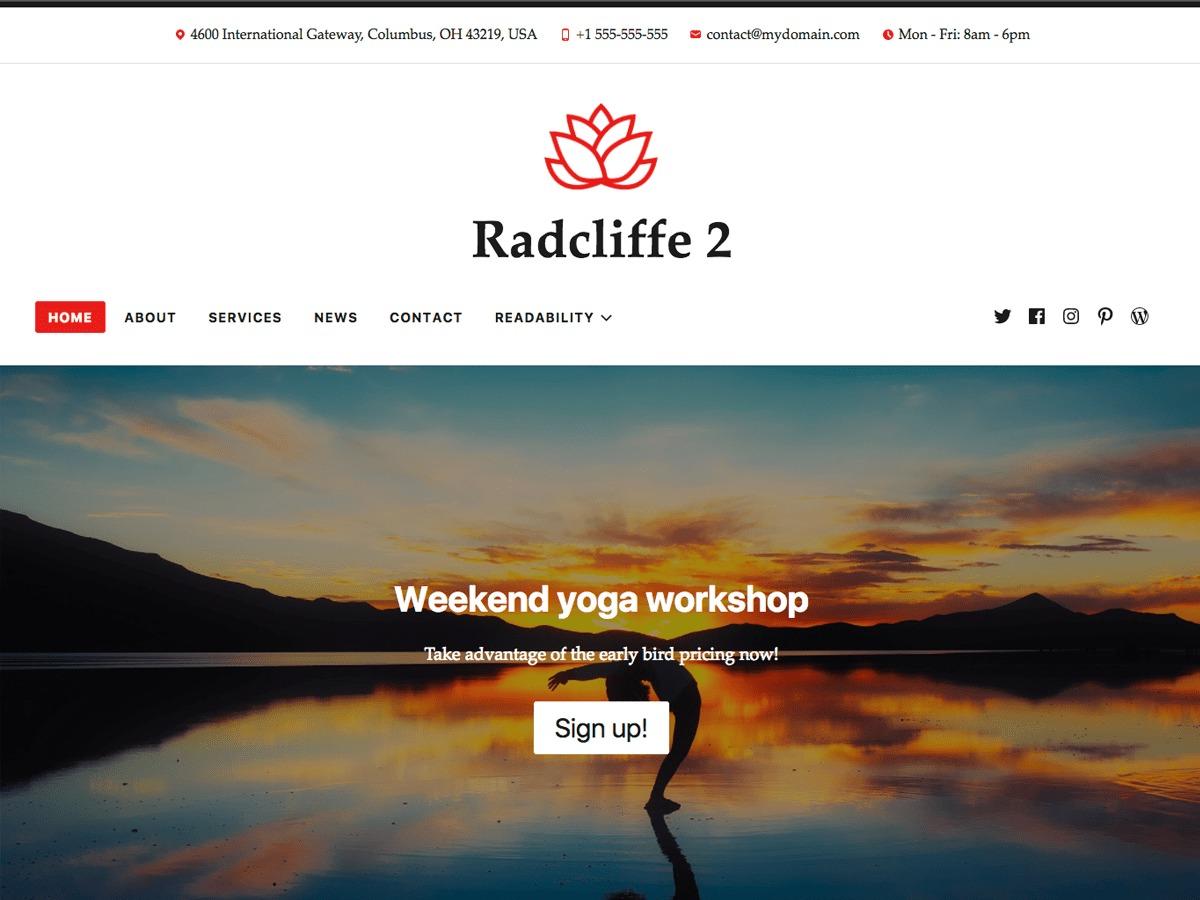 Radcliffe 2 WordPress blog template