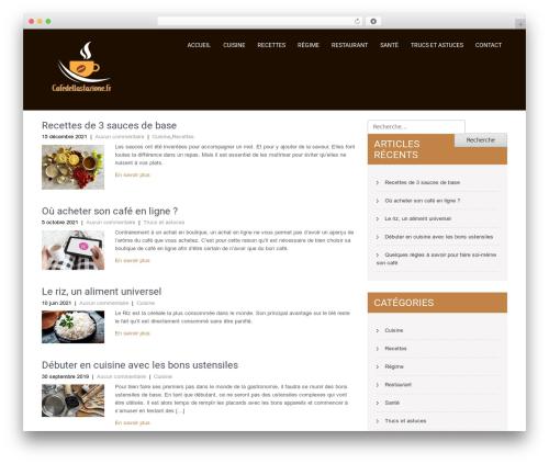 SKT Coffee template WordPress free - cafedellastazione.fr