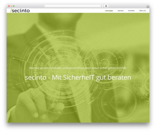 Applauz WordPress theme design - secinto.com