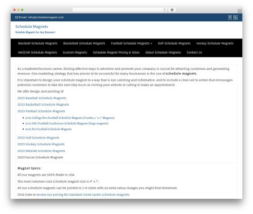 Di Business theme WordPress free - schedulemagnet.com