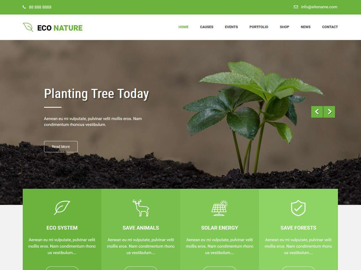 Econature Lite business WordPress theme