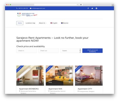 Findeo template WordPress - sarajevorent.com