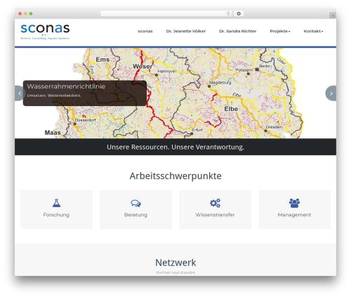 WordPress theme BusiProf Pro - sconas.de