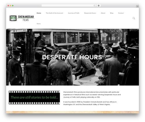 WordPress theme filmic - shenandoahfilm.com