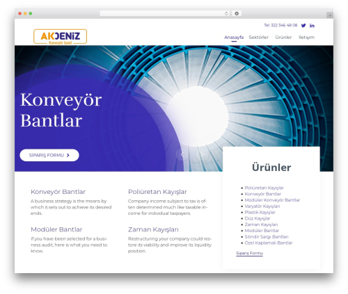 Theme WordPress (VamTam) Consulting - akdenizbant.com