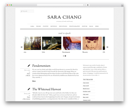 Elemin theme WordPress - sarachang.org