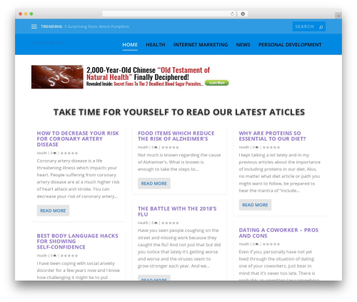 Extra WordPress page template - timemyself.com