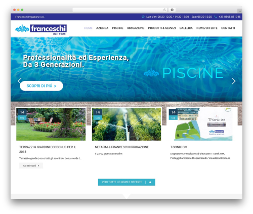 SwimmingPool WordPress theme - franceschirrigazione.it