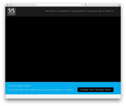 tshirt WordPress template for business - sandsdesign.net