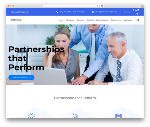(VamTam) Consulting WordPress theme - partnersincredit.com