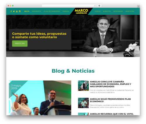 Best WordPress template Politist - marcoameglio.com