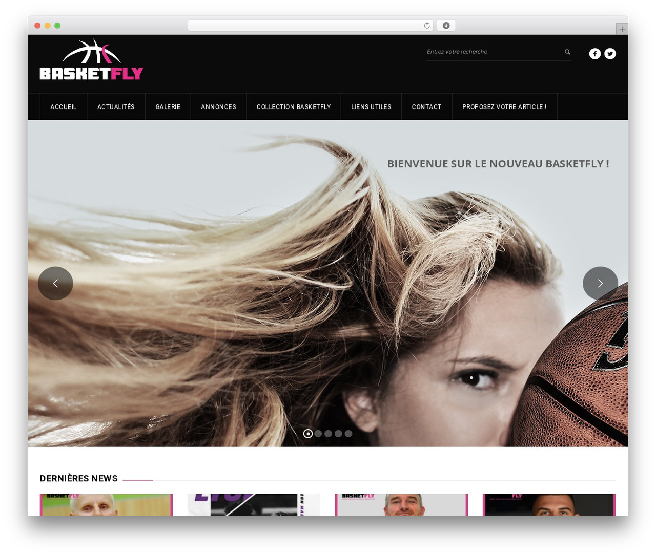 GoalKlub premium WordPress theme - basketfly.fr