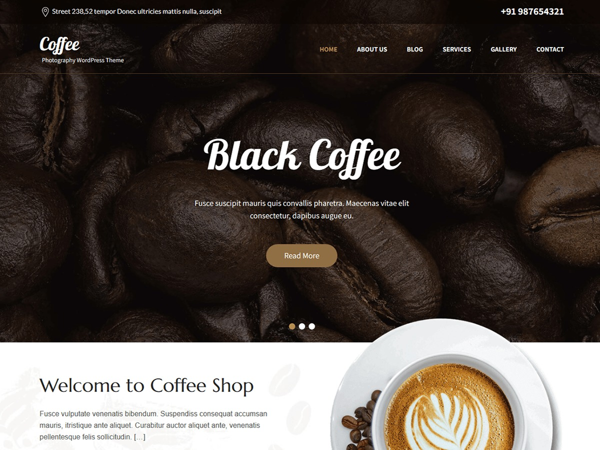 SKT Cafe WordPress shop theme