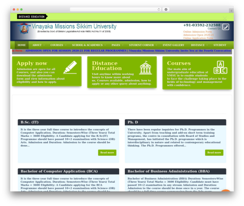 Edu top WordPress theme - vmsuniversity.in