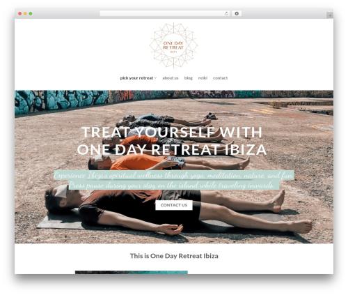 Flatsome WordPress template - onedayretreatibiza.com