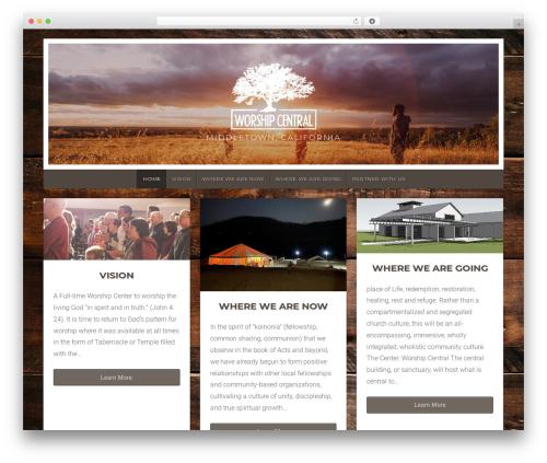 Natural Lite free WordPress theme - worship-central.com