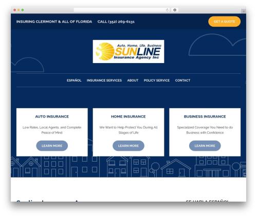 WordPress theme BrightFire Stellar - sunlineinsurance.com