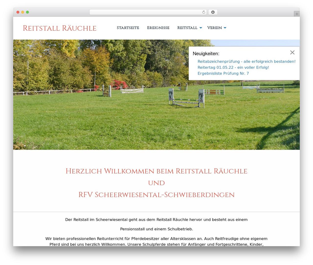 WP theme Reitstall JV - reitstall-raeuchle.de
