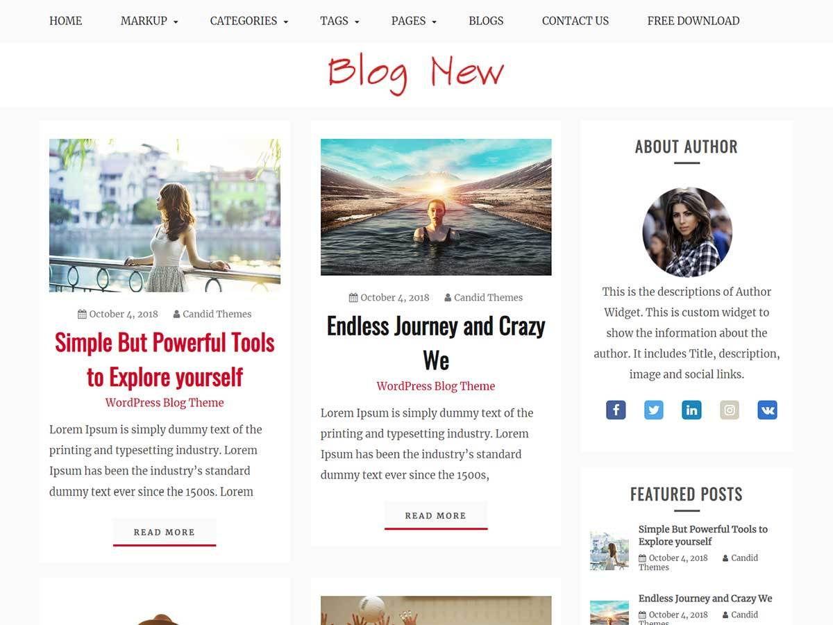 Blog New WordPress blog theme