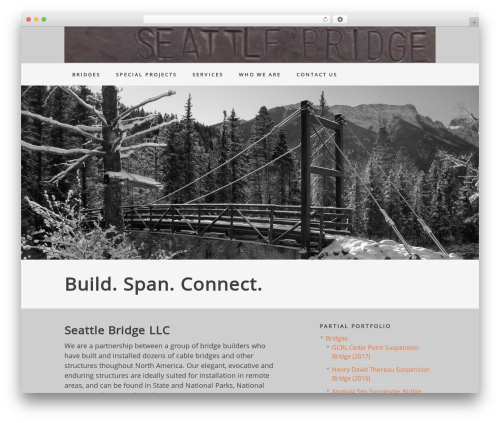Genesis WordPress theme - seattlebridgebuilders.com