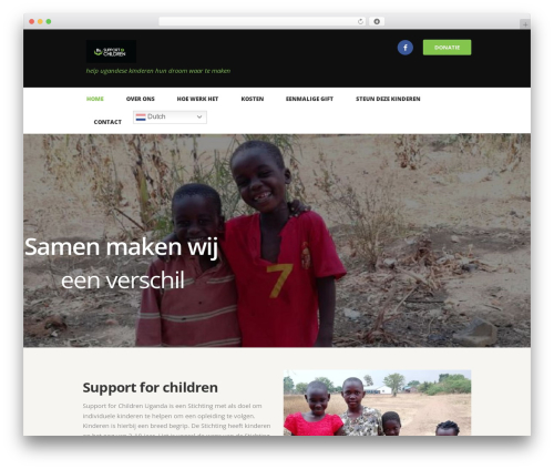 WordPress template Charity Is Hope - support4children.org