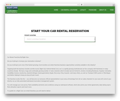 WordPress website template RentIt - right-cars-franchise.com