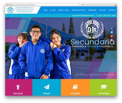 Academia WordPress page template - cedehuehuetoca.com
