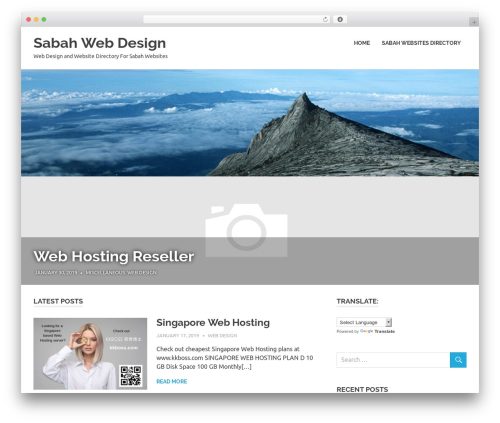 Best WordPress template Poseidon - sabahwebdesign.com
