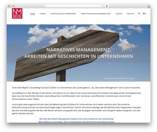 Best WordPress theme Jupiter - narratives-management.de