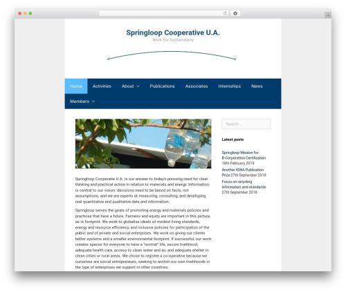 GeneratePress free WordPress theme - springloop.nl