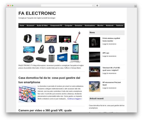 Ready Review free WordPress theme - faelectronic.it