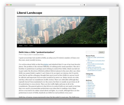 Twenty Ten free WordPress theme - liberallandscape.org