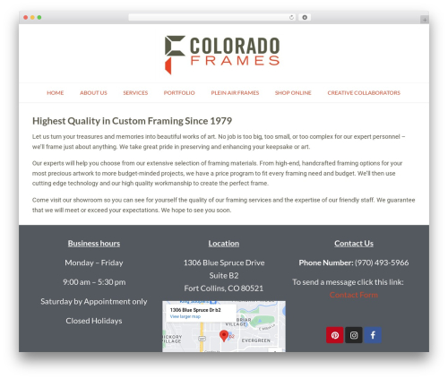 Conica WordPress theme - coloradoframes.com