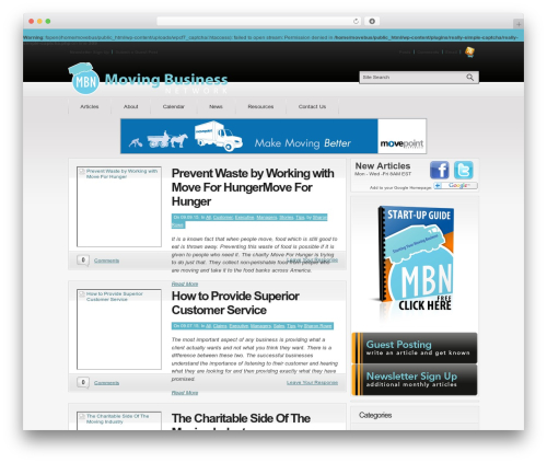 Convergence company WordPress theme - movingbusiness.org