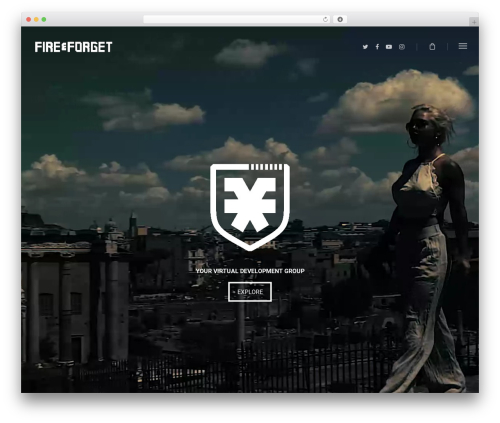 Salient WordPress website template - fireandforgetco.com