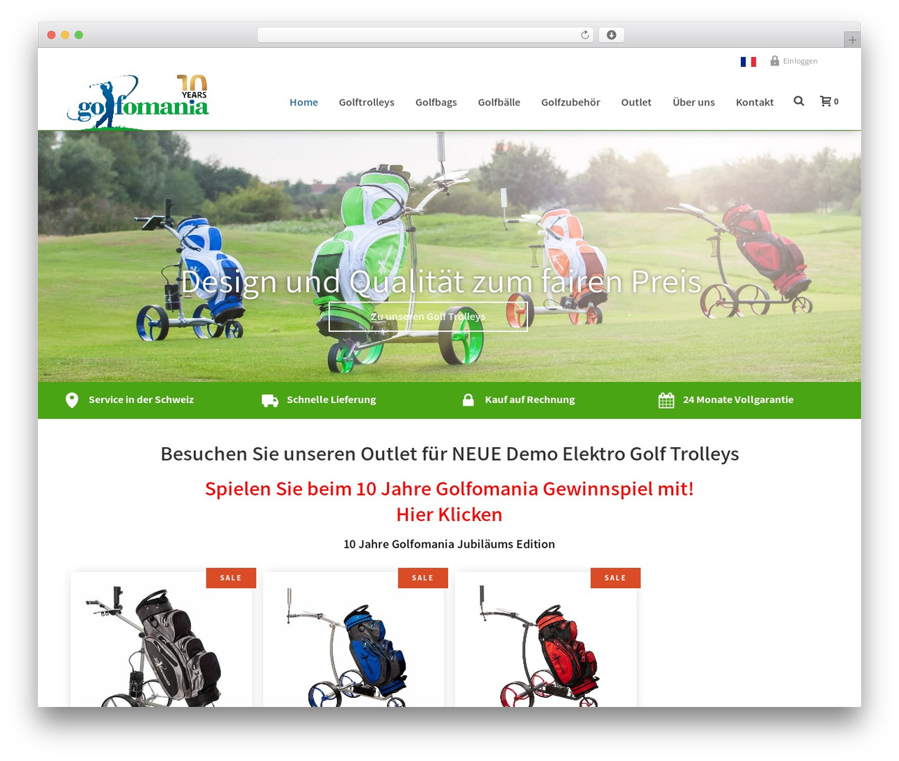 Template WordPress Jupiter - golfomania.ch