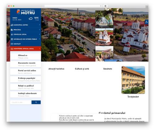 TownPress WordPress theme - primariamotru.ro