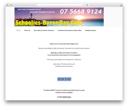 Twenty Seventeen best free WordPress theme - schoolies-byronbay.com