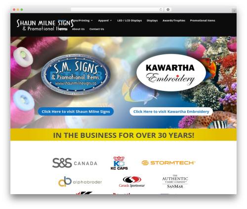 WordPress template Divi | Shared By VestaThemes.com - shaunmilnesigns.ca