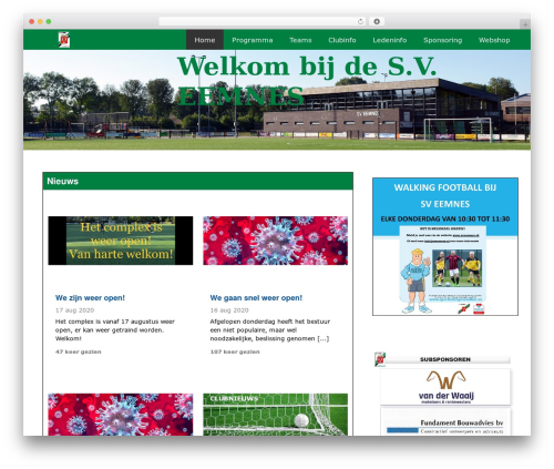 WordPress website template Redesign Sportlinkclubsites - sveemnes.nl