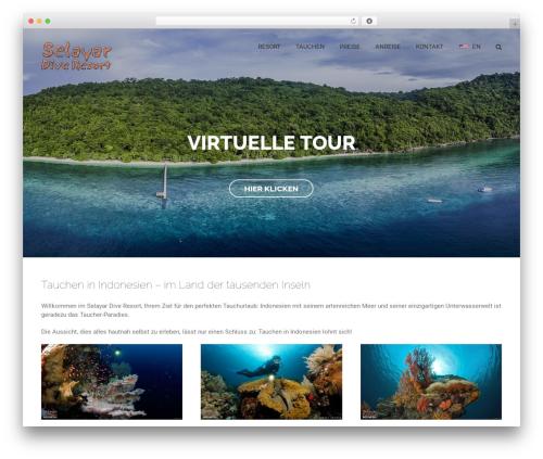 Avada WordPress theme design - selayar-dive-resort.de