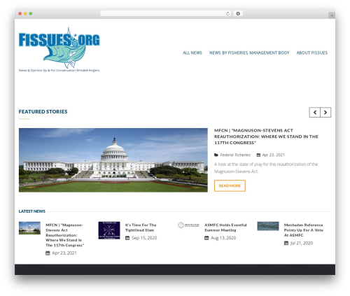 Charity WPL WordPress page template - fissues.org