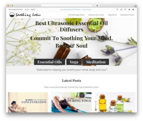 Genesis WordPress theme - soothinglotus.com