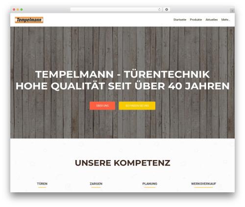 OnePirate best free WordPress theme - tempelmann-tuerentechnik.de