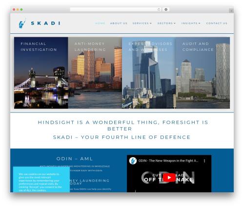 WordPress theme Divi - skadilimited.com