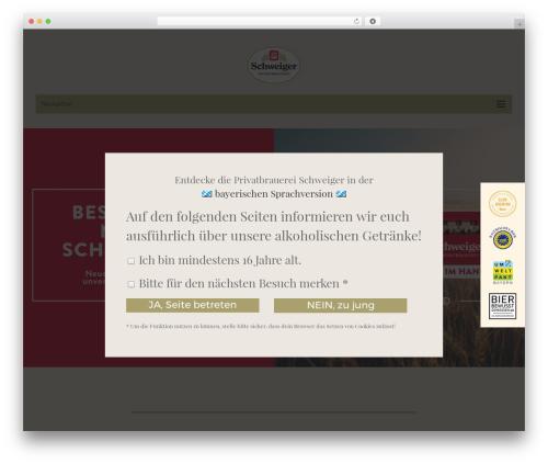 WordPress website template Schweiger Bier - schweiger-bier.de