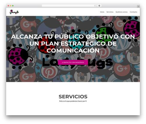 Zerif Lite best free WordPress theme - ladybugs.es