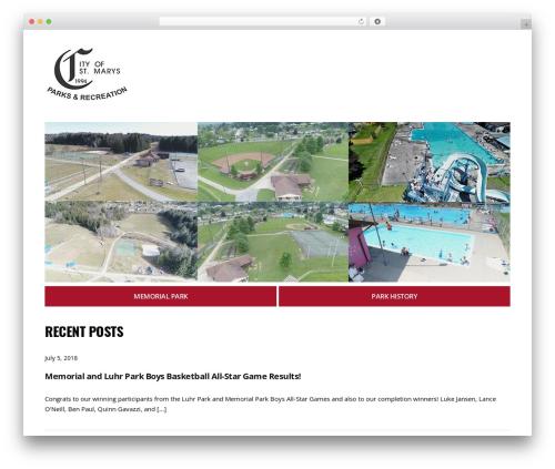 City Hall WordPress theme - smrecreation.com