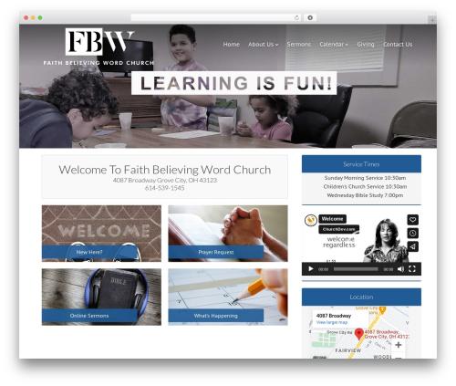 Dynamik-Gen WordPress template - faithbelievingwordchurch.com